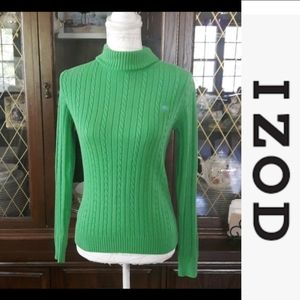 Dize S IZOD green turtle neck in great condition